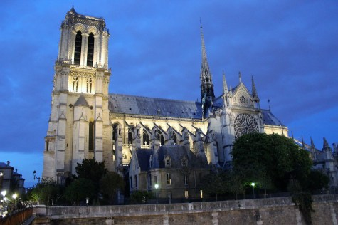 Nighttime at Notre-Dame.
