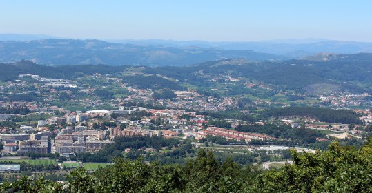 Impressive views can be found from the top of Penha, accessible by cable car.
