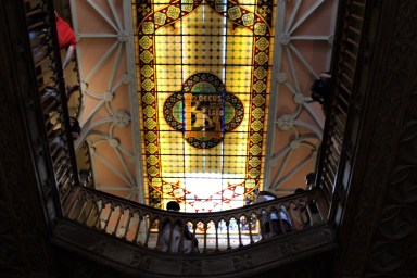 How many bookshops sport stained glass?