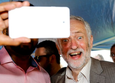Labour leader Jeremy Corbyn visits a rally on Ramsgate seafront.