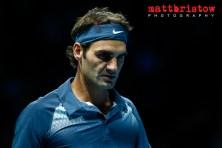 Barclays ATP World Finals. Group B singles match between Novak D