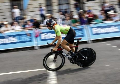 YodelDirect Sprint overall leader BMC Racing rider Sebastian Lander.