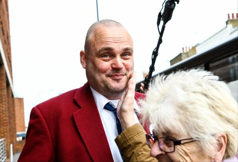 Al Murray just been told he was a lovely boy. Comedian Al Murray, AKA The Pub Landlord, handing in his nomination paperwork at the Thanet council offices in Margate, Kent.
