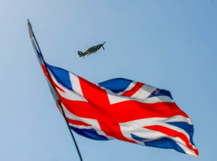 A fly past by a Spitfire and Hurricane completed the send off. Operation Dynamo 75th anniversary. A selection of ships leave Ramsgate harbour and sail to Dunkirk accompanied by the Royal Navy and RNLI to mark the occasion.