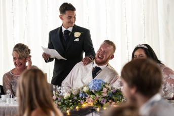 Kieran and Laura wedding at Ramada Hotel, Whitfield