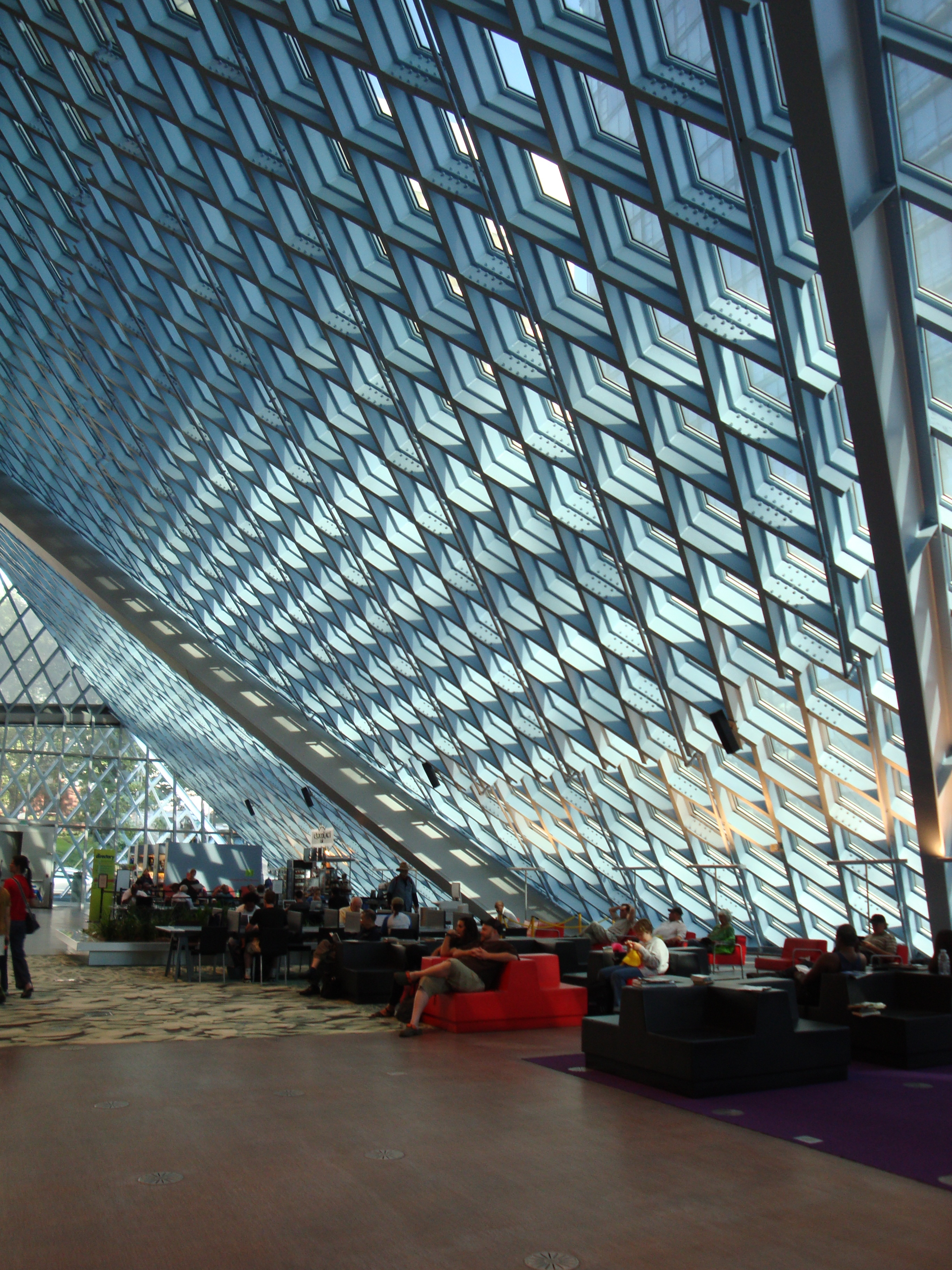 3rd floor of the Seattle Public Library