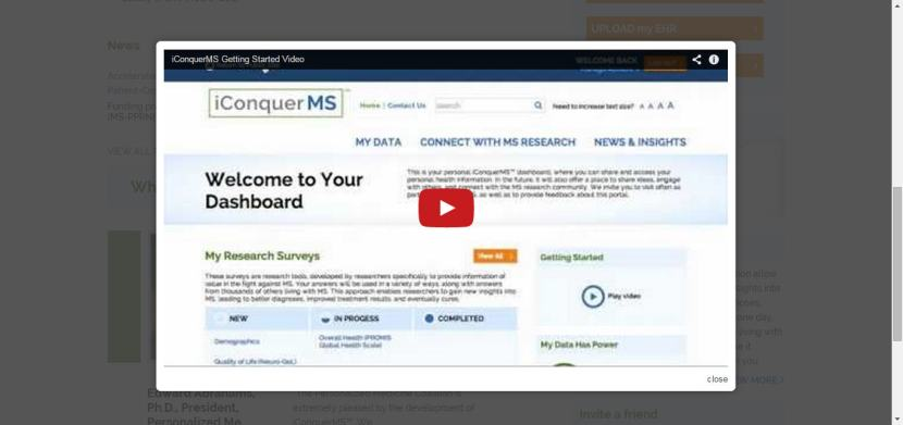 iConquerMS Dashboard