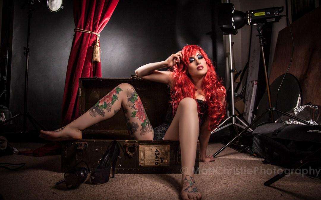 Adreena Angela – Red Curtain Shoot