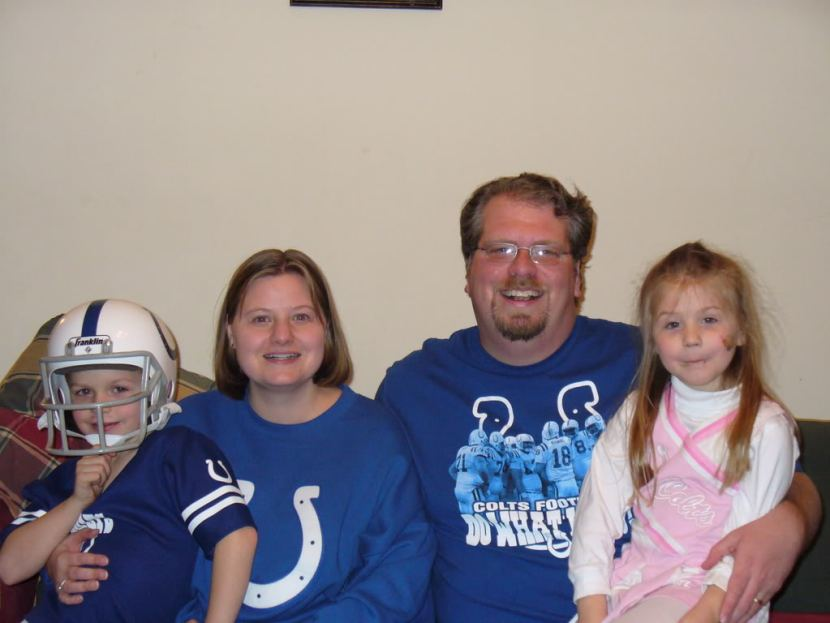 Our family when the Colts won the Super Bowl