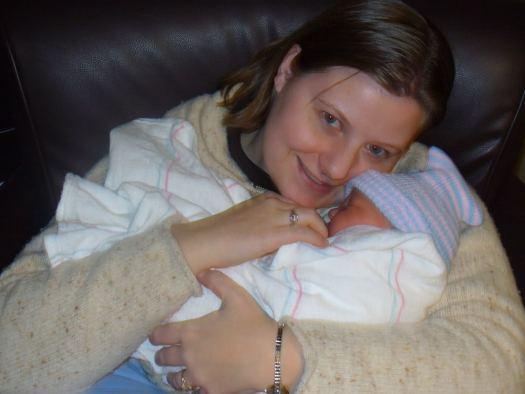 Christy and Baby Caedmon
