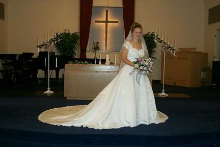 Christy at our wedding