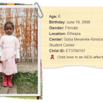 A letter from a sponsored Compassion child
