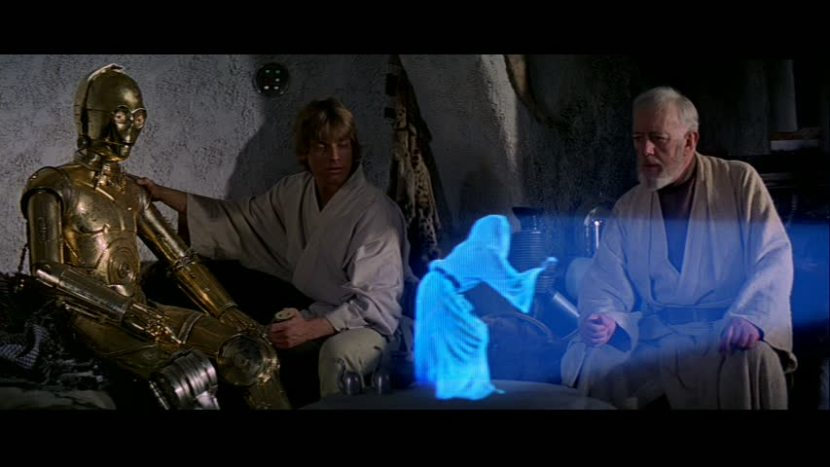 """You're my only hope..."" Star Wars A New Hope"