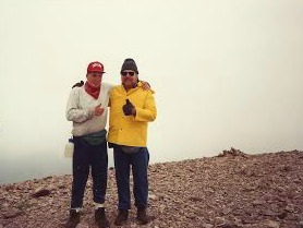 Me and my Dad on top of Mt. Baldy.