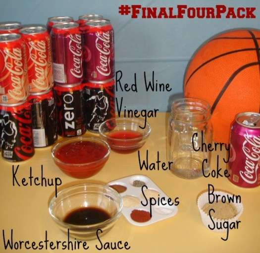 #FinalFourPack Cherry Coke BBQ ingredients