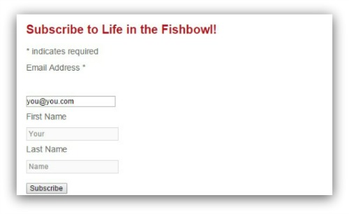 subscribe to Life in the Fishbowl