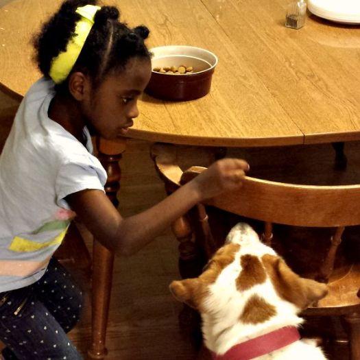 Mihret feeding Bella by hand #BrightMind #ad