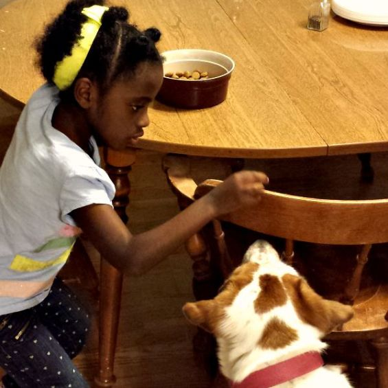 Mihret feeding Bella by hand #BrightMind #ad