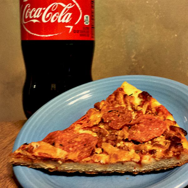 Pizza Slice and Coca Cola #EffortlessMeals #ad