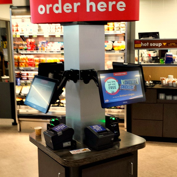 Place your order on the touchscreens at GetGo in Carmel Indiana #WecomeToIndiana