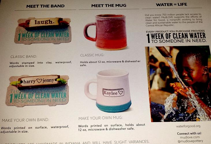 MudLOVE mugs and bands help provide clean water to the Central African Republic.