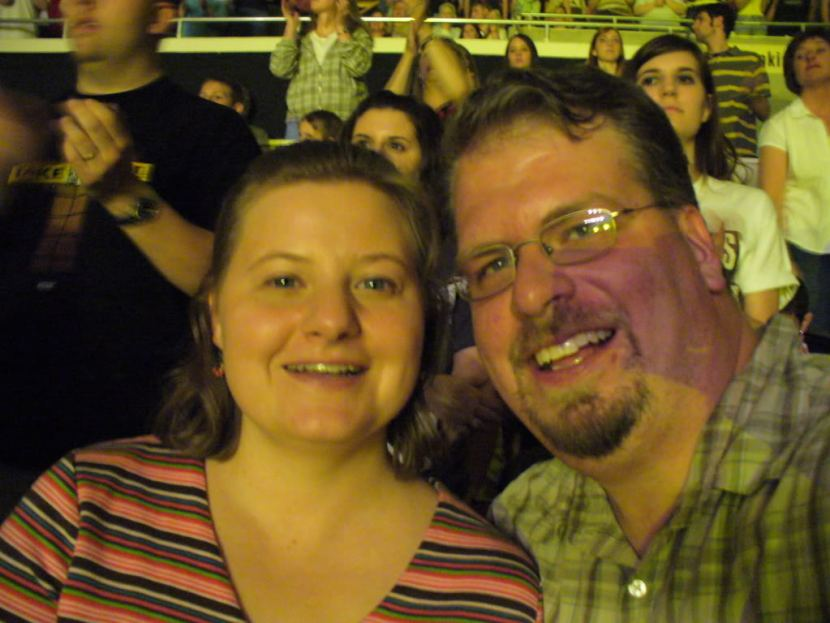 Self portrait me and Christy at Audio Adrenaline concert
