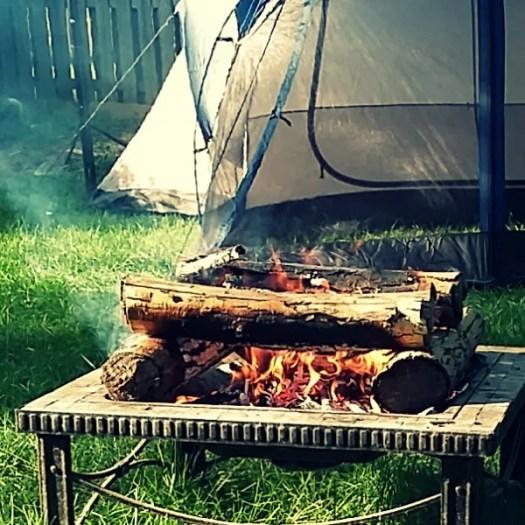 Log Cabin type campfire [AD] #KingofFavor