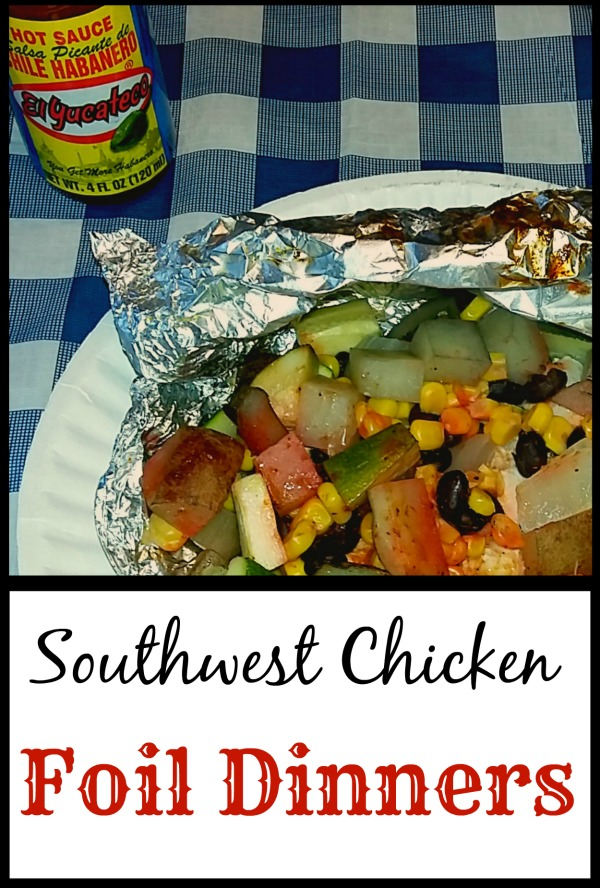 Southwest Chicken Foil Dinners [AD] #KingOfFlavor