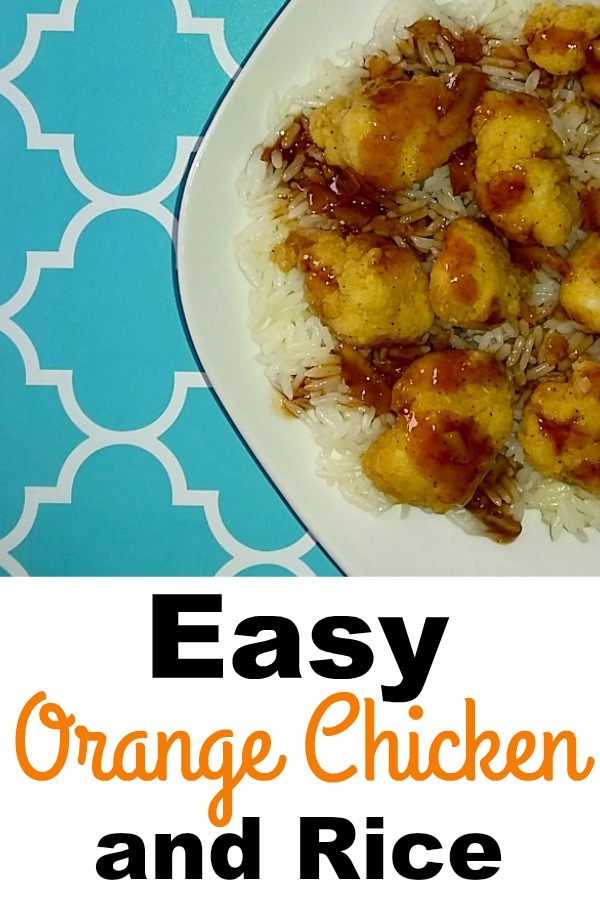 Easy Orange Chicken and Rice Recipe #ReadySetServe [AD]
