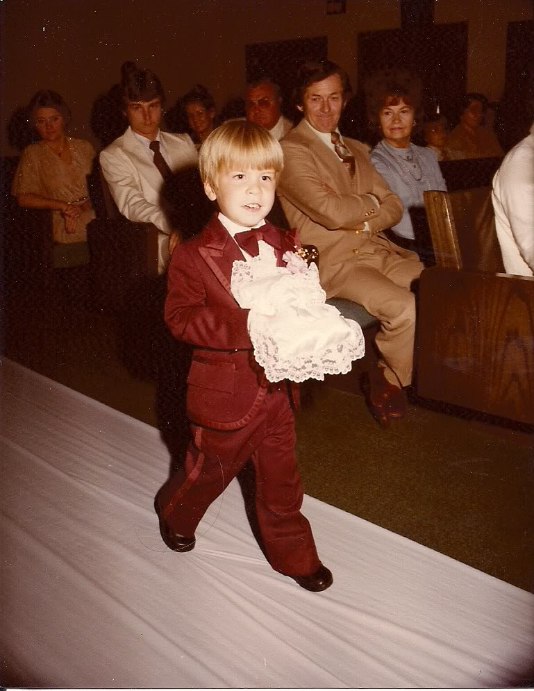 Me as a Ring Bearer at Aunt Patsy and Uncle Don's wedding