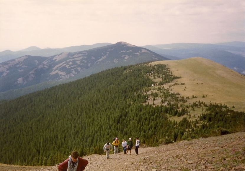Climbing Baldy at Philmont Scout Ranch in Cimarron New Mexico