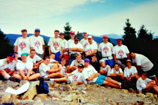 Mr. Gerhart and Crew on top of Tooth of TIme 1994