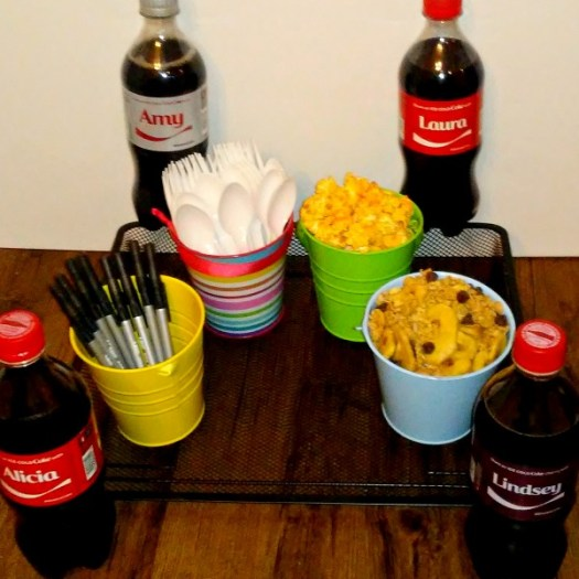 Share an Ice Cold Coke with an office gift basket #ShareIceColdFun #ad