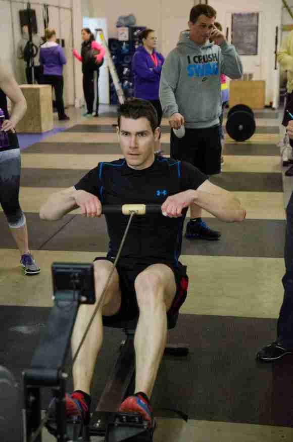 Matt rowing.