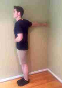 Arm Against Wall - Stretch Position