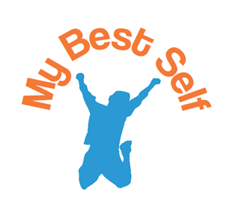 My Best Self Logo - Man's Silhouette Jumping