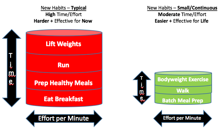 Typical (long time) versus Continuous Model activities (short time)