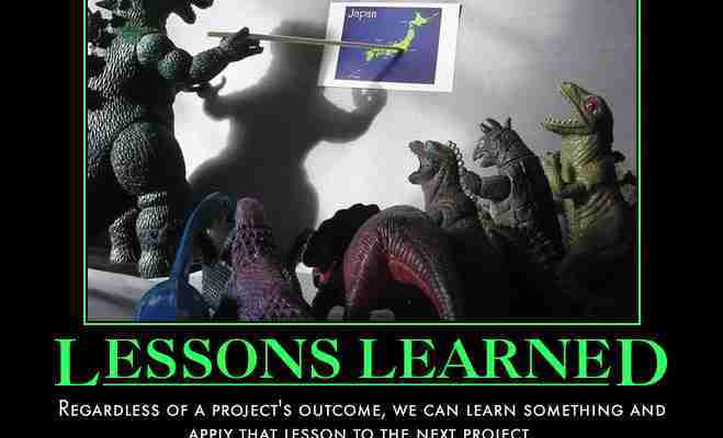 This Is A Lessons Learned Poster With Dinosaurs Talking.