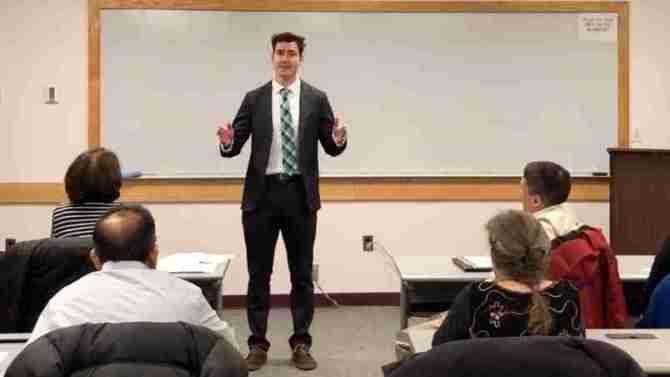 Matt Speaking To Audience