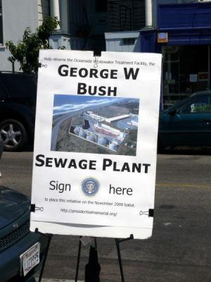 Bush sewage plant