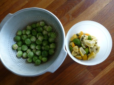 Brussels Sprouts Piccata ingredients