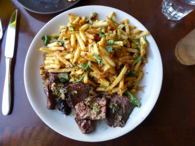 Bavette Steak with Parmesan Frites at Company