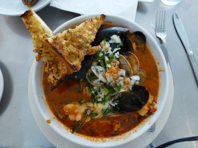 cioppino at the Anchor Oyster Bar