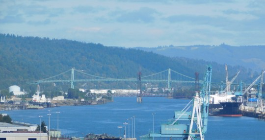 St. Johns Bridge and Railroad drawbridge