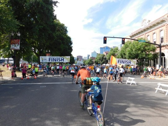Bridge Pedal finish line