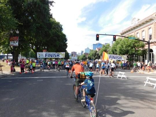 Bridge Pedal finish line