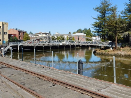 pedestrian bridge over the Petaluma River