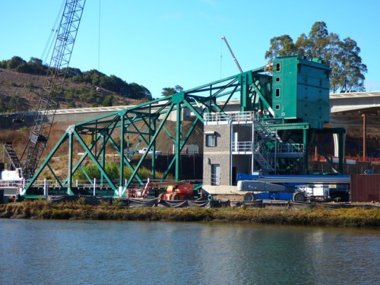 new NWP railroad drawbridge at Haystack Landing