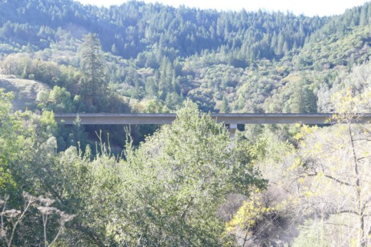 Russian River bridge on Geysers Road