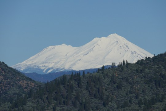 Mt. Shasta from atop Shasta Dam